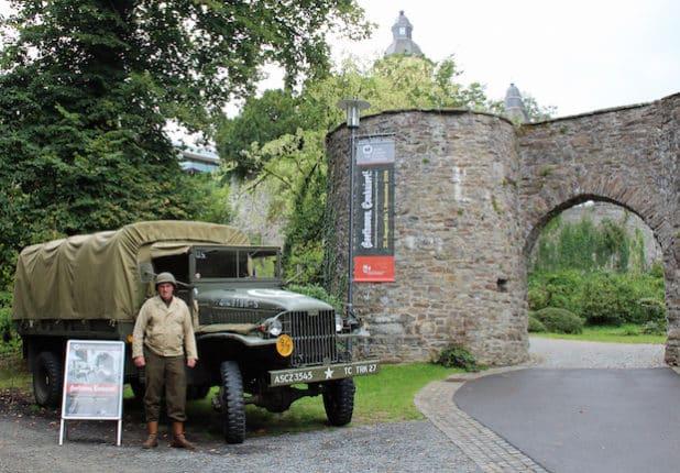 Der Transporter von Arno Wendeler aus Nümbrecht ist baugleich mit den LKW, die während des 2. Weltkriegs Kunst- und Kulturgüter transportierten. (Foto: OBK)