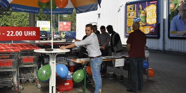 Photo of CJD'ler unterstützen REWE-Markt in Bergneustadt