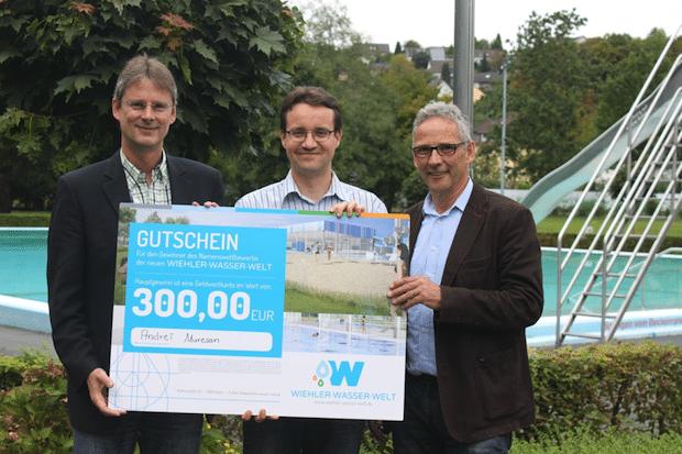 """Photo of Sieger des Namenswettbewerbes """"Wiehler – Wasser – Welt"""""""