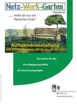 """Einladung zur Auftaktveranstaltung des """"Netz-Werk-Garten"""". (Foto: OBK)"""