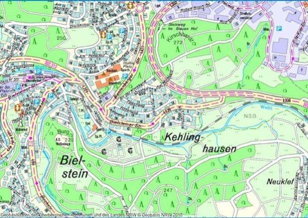 Veränderte Verkehrsführung durch Bauarbeiten in Bielstein- Kehlinghausen (Grafik: RIO OBK)