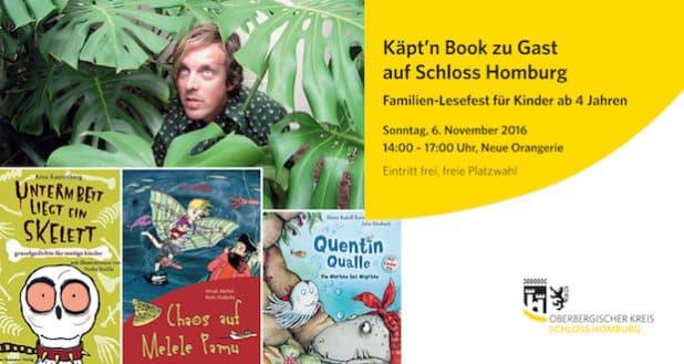 Flyer zu Käpt'n Book. (Grafik: Museum und Forum Schloss Homburg)