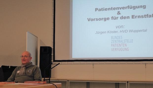 Infoveranstaltung zur Patienenverfügung - Quelle: HP.Schulz