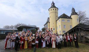 Jecke Majestäten feierten auf Schloss Homburg