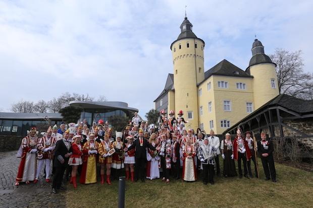 Photo of Jecke Majestäten feierten auf Schloss Homburg