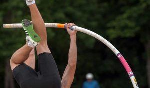 Angela Wald bei den Deutschen Hallenmeisterschaften in Leipzig in Bestform