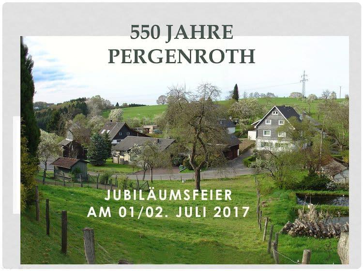 Photo of 550 Jahre Pergenroth am 1. und 2. Juli 2017