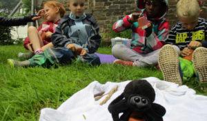 Die Vorschulkinder der städtischen Kita Weiershagen erforschen -Das große Krabbeln-