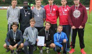 Marienheider Gesamtschüler werden Vizemeister beim Landesentscheid im Leichtathletikwettkampf