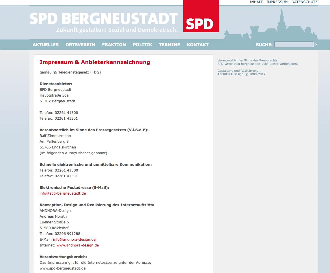 Hinweis zur Werbeagentur von Andreas Horath aus Brüchermühle.