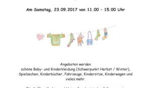 Kindersachenflohmarkt im Waldorfkindergarten Wiehl e.V.