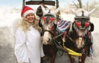 Auch die Tiere im Wildparadies Tripsdrill feiern Weihnachten