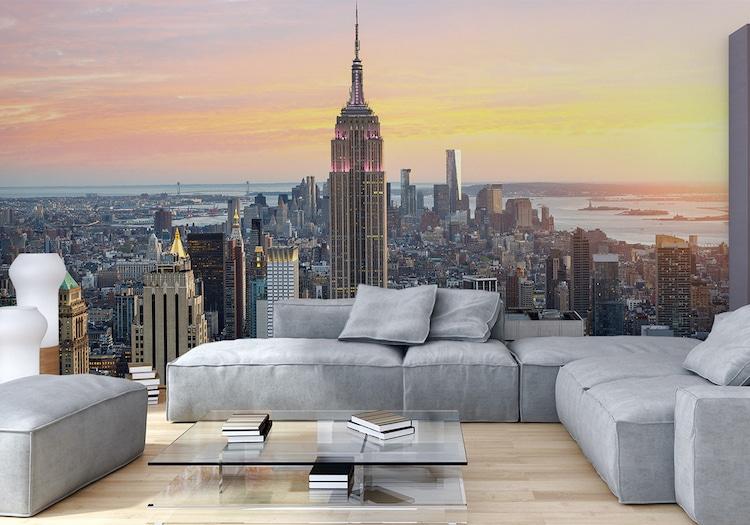 new york ist immer eine gute deko idee fototapete new york einrichtung auf weltweitem niveau. Black Bedroom Furniture Sets. Home Design Ideas