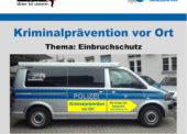 Zum Thema Einbruchsschutz berät die Polizei in Lindlar