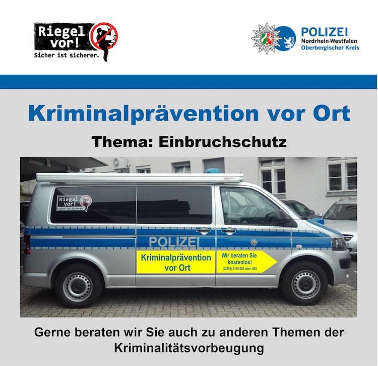 Photo of Zum Thema Einbruchsschutz berät die Polizei in Lindlar