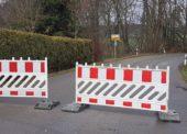 Straßensperrungen in der Gemeinde Lindlar