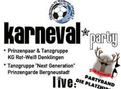Karnevalsparty Bergneustadt - FC Wiedenest Othetal laden ein.