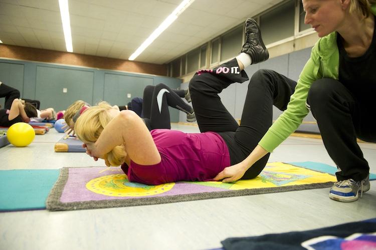 Bild von Fortbildungskurs zum Thema Beckenbodengymnastik
