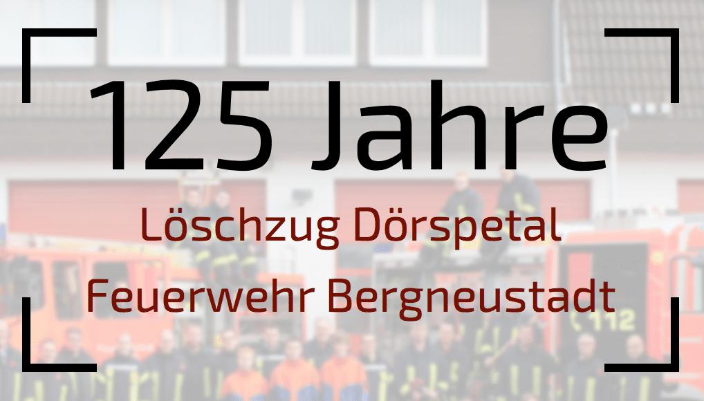 Photo of Löschzug Dörspetal feiert an drei Tagen 125 Jahre Jubiläum
