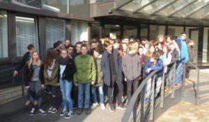 Marienheider Gesamtschüler zu Besuch im Düsseldorfer Landtag
