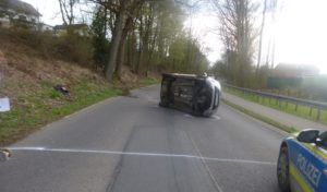 Unfall mit einem Verletzten nach Fahrfehler