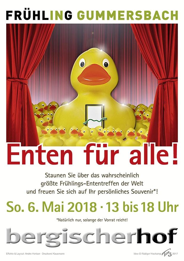 Frühlings-Ententreffen im EKZ Bergischer Hof in Gummersbach.