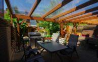 Terrassenüberdachung mit Steg- und Hohlkammerplatten