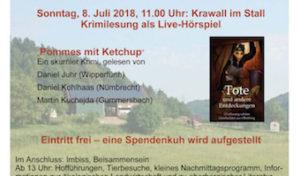 Im Stall: Krimilesung im Hörspielformat auf dem Klosterhof