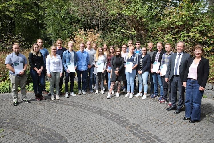 Photo of Auszubildenden übernahmen freiwilligen Aufgaben im Kreisgebiet