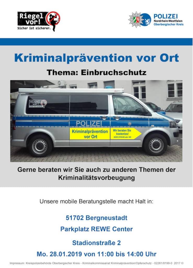 Photo of Beratungsstelle der Polizei am 28. Januar in Bergneustadt