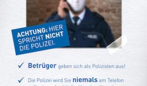 Lassen Sie sich nicht von falschen Polizeibeamten täuschen