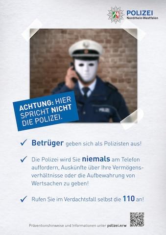 Photo of Lassen Sie sich nicht von falschen Polizeibeamten täuschen
