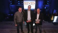 Seven Kinocenter Gummersbach - wurde in einer Pressekonferenz von Christoph Bois (links) - Marc Schroeder und Roland Wolf (rechts) präsentiert. Foto: Christian Sasse/NEWS-on-Tour.de