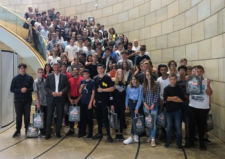 Bild von Schüler der Sekundarschule aus Bielstein besuchten den Landtag
