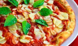 Die Qualität einer Pizza erkennt man daran ob der Boden beim Backen Blasen geschlagen hat.