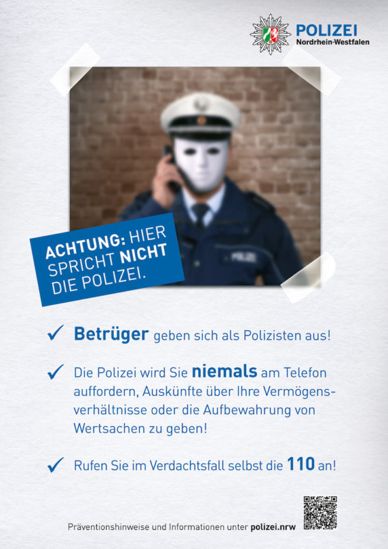 Photo of Polizei warnt vor Trick-Betrügern im Oberbergischen Kreis
