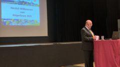 Bürgermeister Holberg während Bürgerforum Bergneustadt 2019