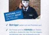 Betrüger mit dem Trick des falschen Polizeibeamten erfolgreich