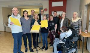 Musik ohne Grenzen – HBW-Bewohner werden zu Harfen-Spielern