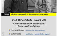 Schutz vor Kriminalität – Polizei berät Senioren in Gummersbach