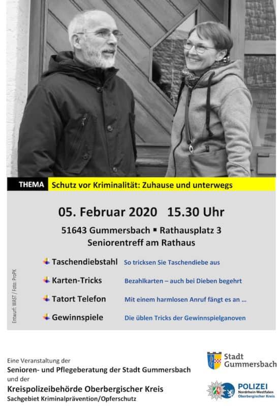 Photo of Schutz vor Kriminalität – Polizei berät Senioren in Gummersbach
