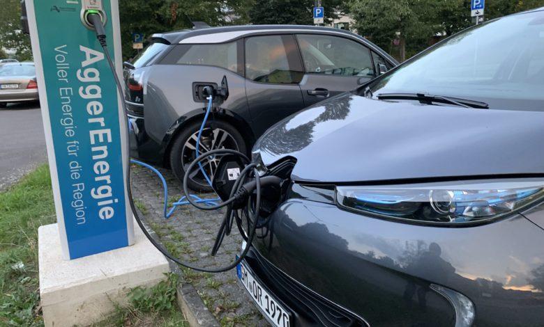 Aggerenergie - Ladesäule in Bergneustadt.