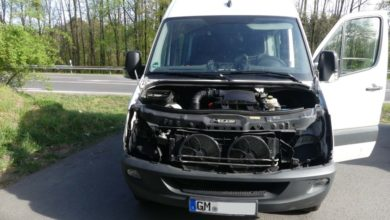 Photo of Sprinter auf Pendlerparkplatz ausgeschlachtet