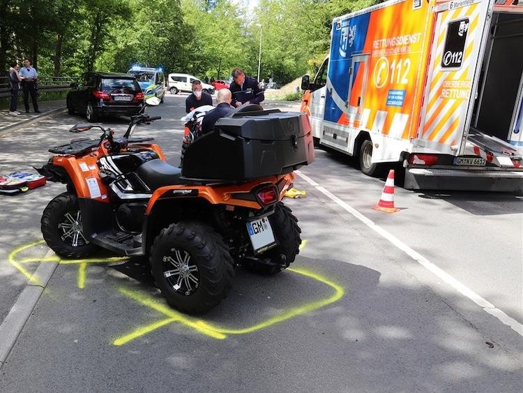 Photo of Verkehrsunfall – Quadfahrer schwer verletzt