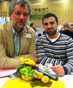 Michael Zwinge mit seinem Stadt- Kollegen Alaftekin
