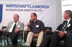 Jörg von Polheim- FDP, Andreas Schmitz- BÜNDNIS 90/DIE GRÜNEN, Klaus- Peter Floßbach, CDU (v.l.)