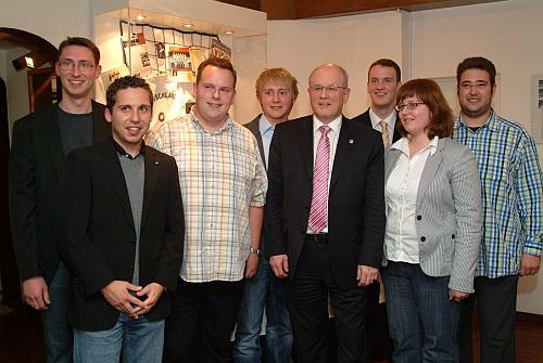 Die junge Union freute sich über den Besuch vom CDU/CSU Fraktionschef Volker Kauder.
