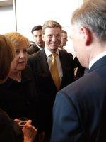 Bundeskanzlerin Dr.Angela Merkel und FDP-Chef Guido Westerwelle gratulieren Horst Köhler