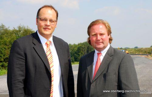 Bürgermeisterkandidat Kai Uffelmann und Minister Lutz Lienenkämper